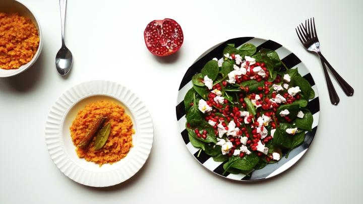 Lentils and pomegranate salad 1