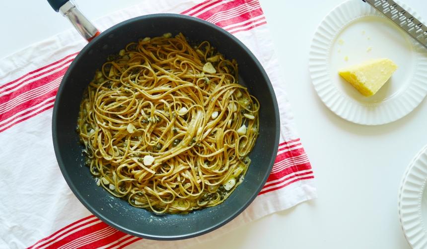 Caper garlic pasta 2