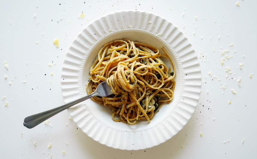 Garlic caper pasta 5