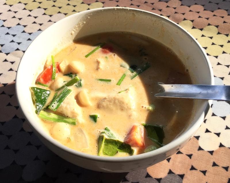 authentic Thai coconut soup